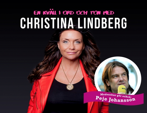 En kväll i ord och ton med Christina Lindberg. Bjursnäs 6 okt.