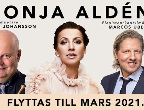 Konserterna med Sonja Aldén flyttas till mars 2021