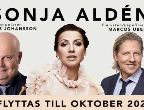 Konserterna med Sonja Aldén i Växjö och Kalmar flyttas till oktober 2021.